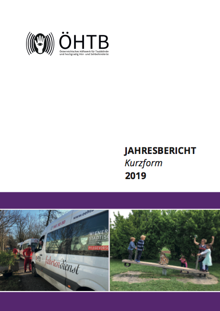 Titelblatt des ÖHTB Jahresberichts 2019