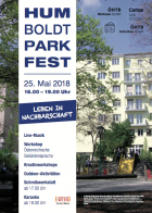 Plakat Humboldtpark Fest 2018